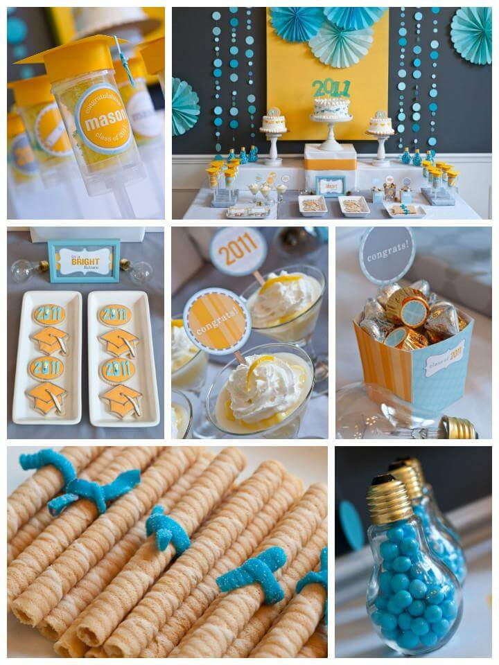 Table Decorations For Graduation Party Ideas  50 DIY Graduation Party Ideas & Decorations DIY & Crafts