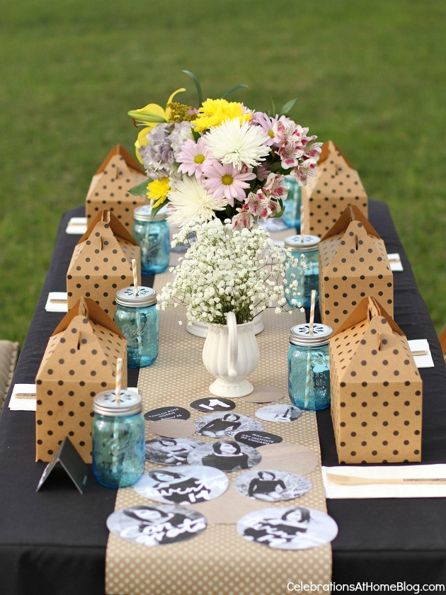 Table Decorations For Graduation Party Ideas  Shabby Chic Graduation Party Ideas Celebrations at Home