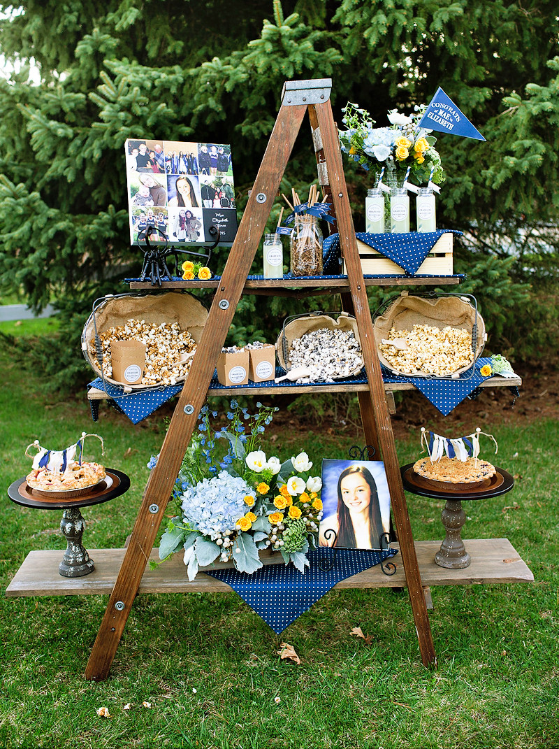"""Table Decorations For Graduation Party Ideas  Lovely & Rustic """"Keys to Success"""" Graduation Party"""