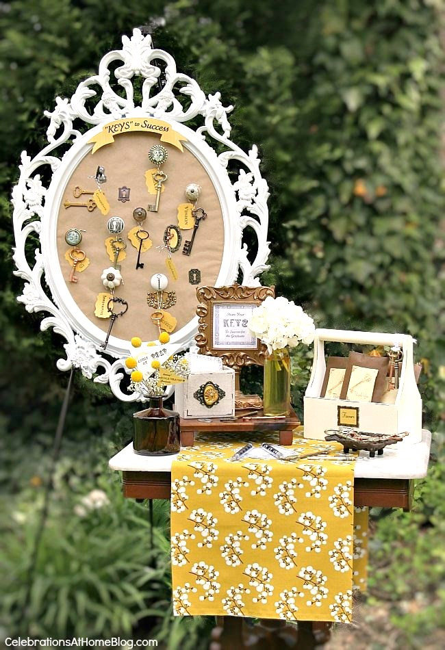 """Table Decorations For Graduation Party Ideas  """"Keys To Success"""" Graduation Party Decor Celebrations at"""