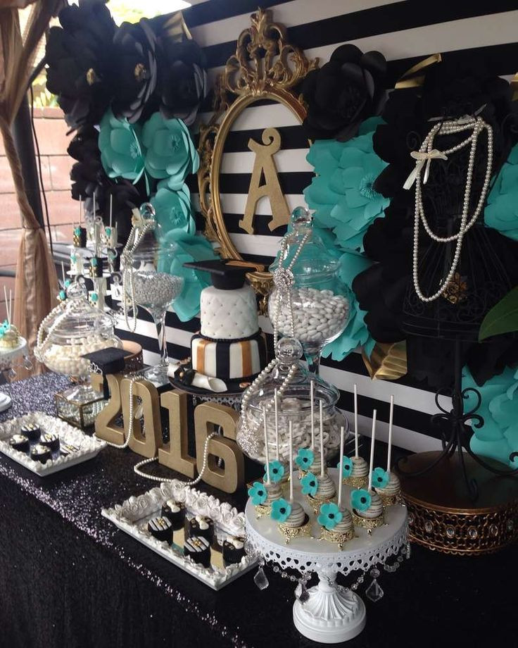 Table Decorations For Graduation Party Ideas  282 best Graduation Party Ideas images on Pinterest