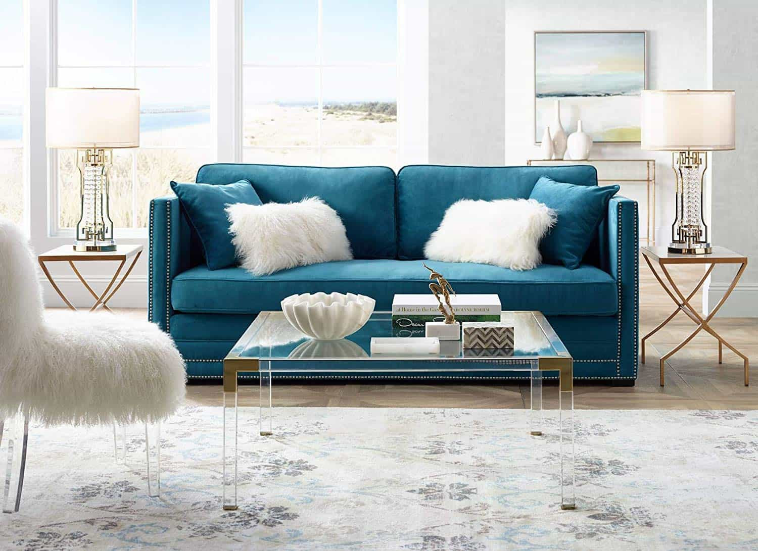 Table In Living Room  Chic Acrylic Coffee Tables For A Elegant Living Room