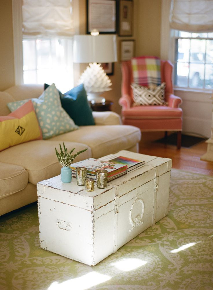 Table In Living Room  16 Old Trunks Turned Coffee Tables That Bring Extra