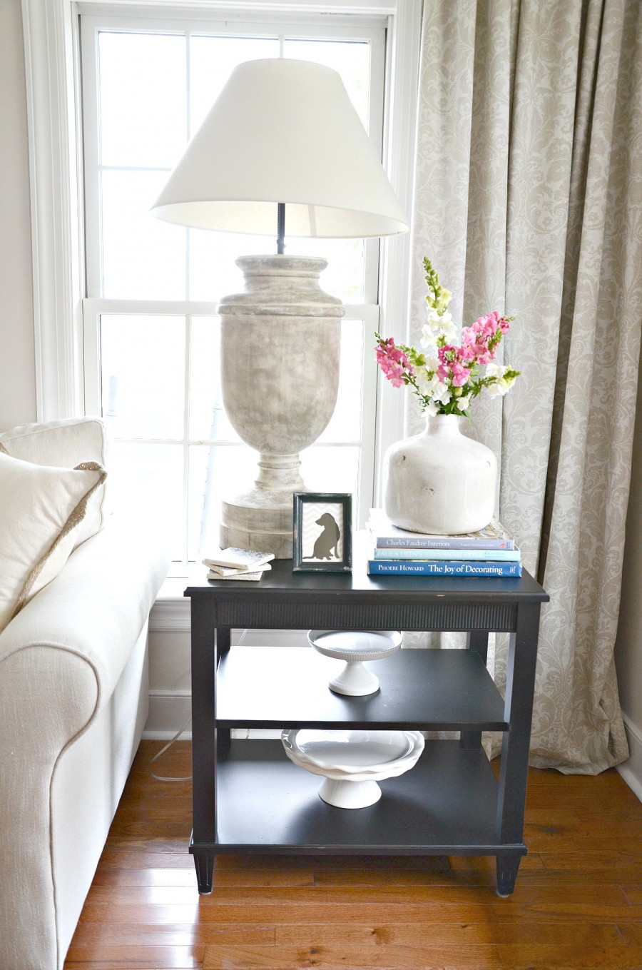 Table In Living Room  HOW TO STYLE AN END TABLE LIKE A PRO StoneGable