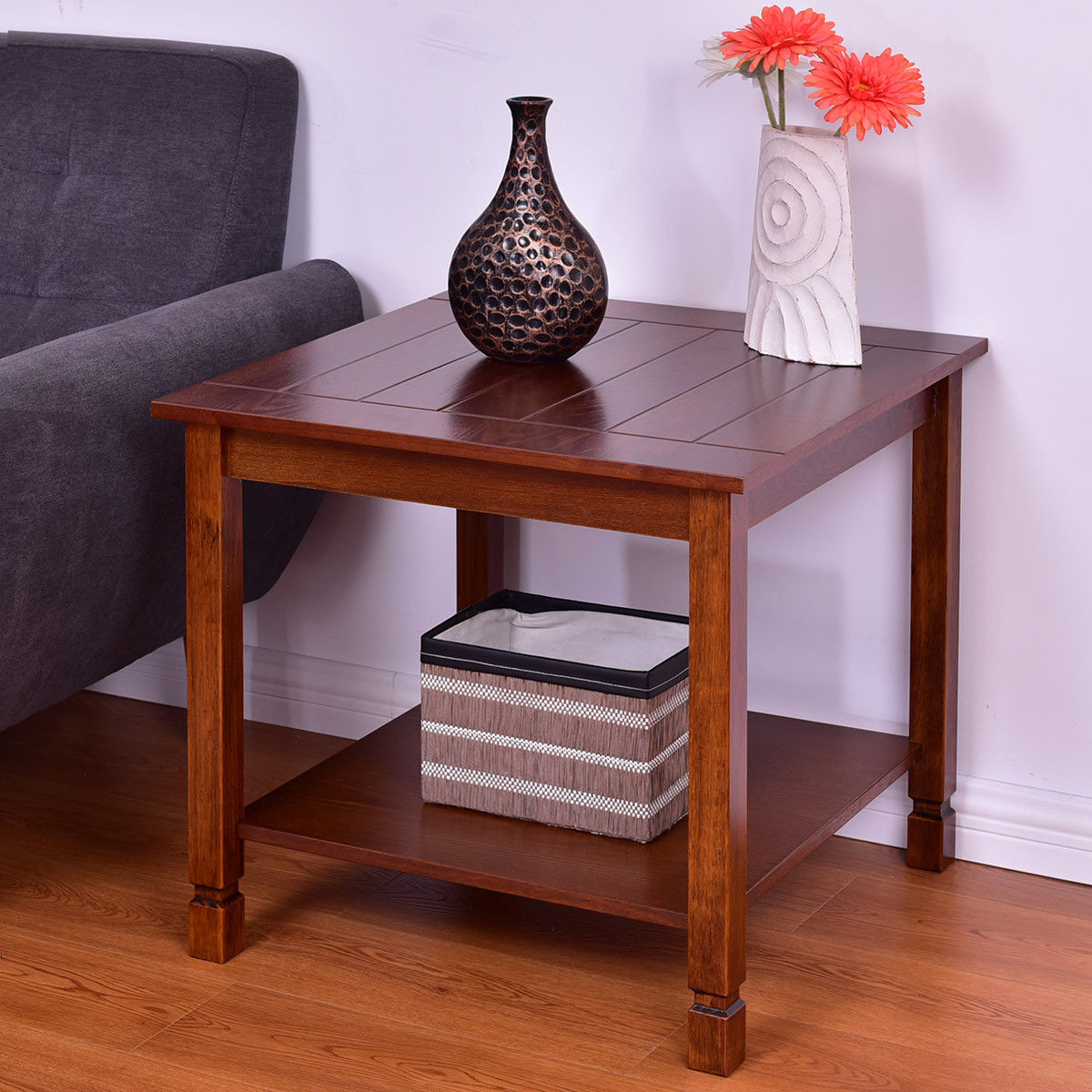 Table In Living Room  Giantex Wood Side Table Living Room End Table Night Stand