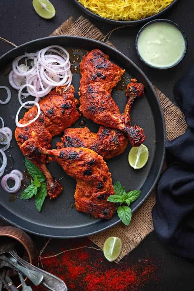 Tandoori Chicken Side Dishes  Tandoori Chicken Recipe Authentic Easy and Best Cubes