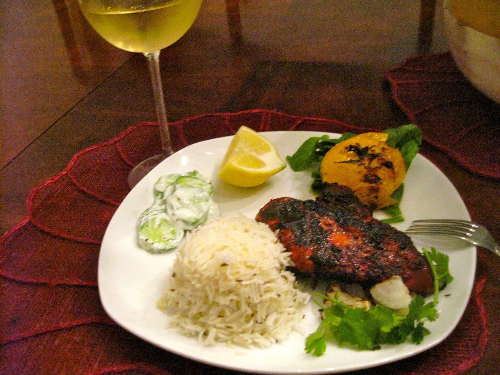 Tandoori Chicken Side Dishes  Classic Spicy Tandoori Chicken and side dishes