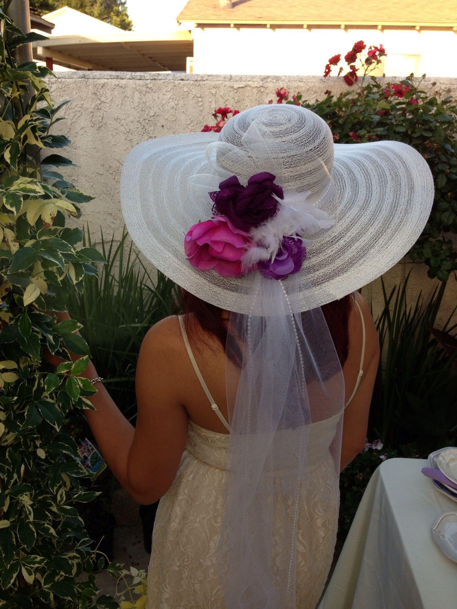 Tea Hat Party Ideas  Fancy hat tea party bridal shower