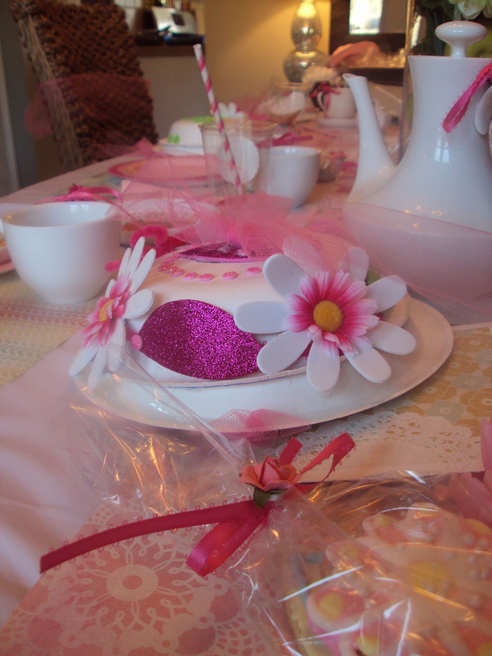 Tea Hat Party Ideas  The kids had so much fun making these tea party hats out