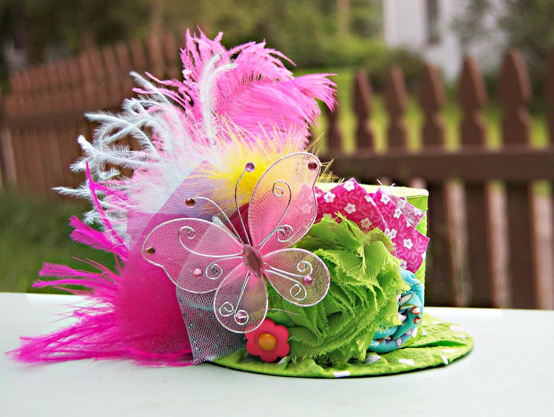 Tea Hat Party Ideas  Mini Top Hat Alice in Wonderland Prop Birthday Top