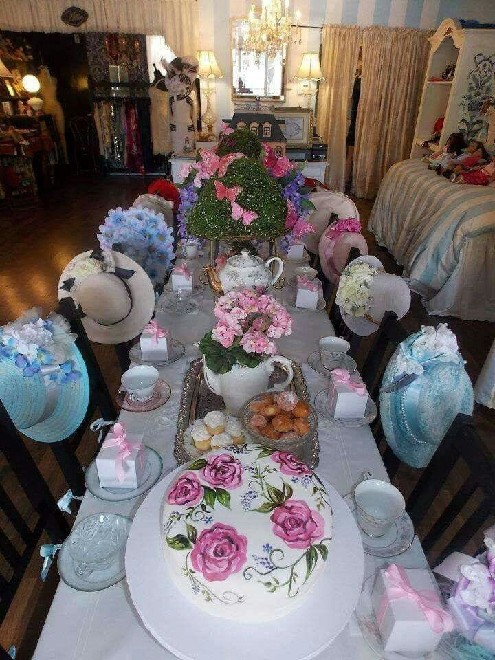 Tea Hat Party Ideas  This but with cuter hats