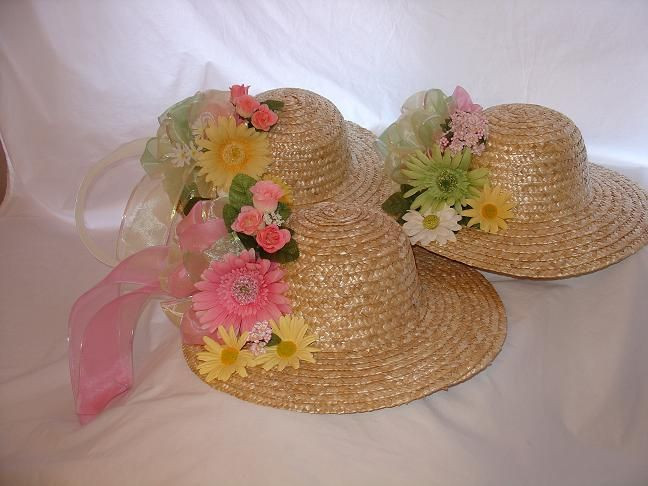 Tea Hat Party Ideas  Hot glue some fancy hats for during tea and maybe favors