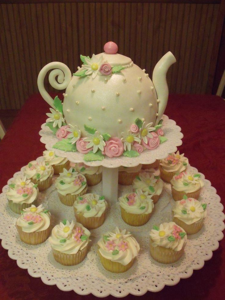 Tea Party Birthday Cake Ideas  119 best images about la s tea party on Pinterest