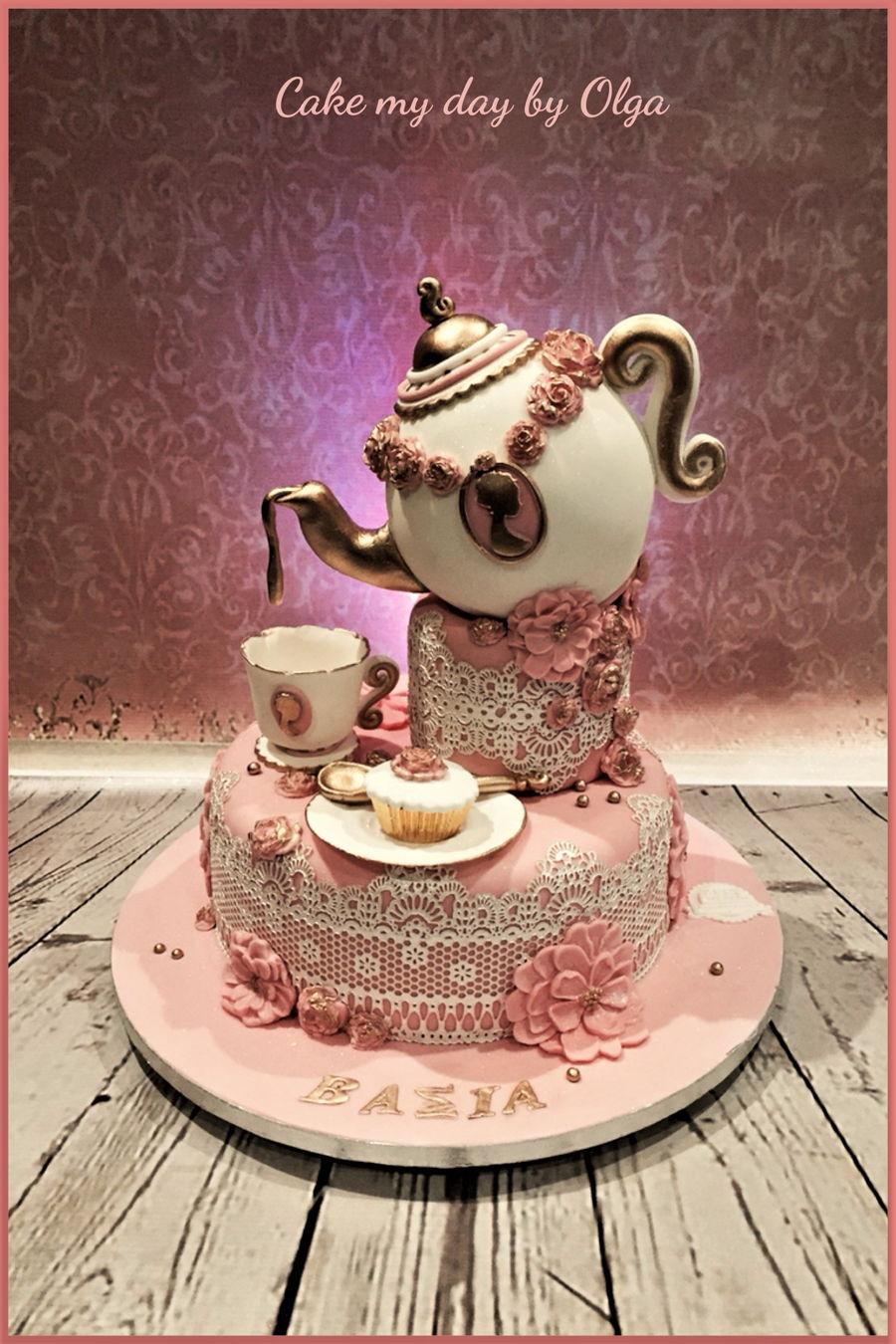 Tea Party Birthday Cake Ideas  Tea Party Cakes CakeCentral