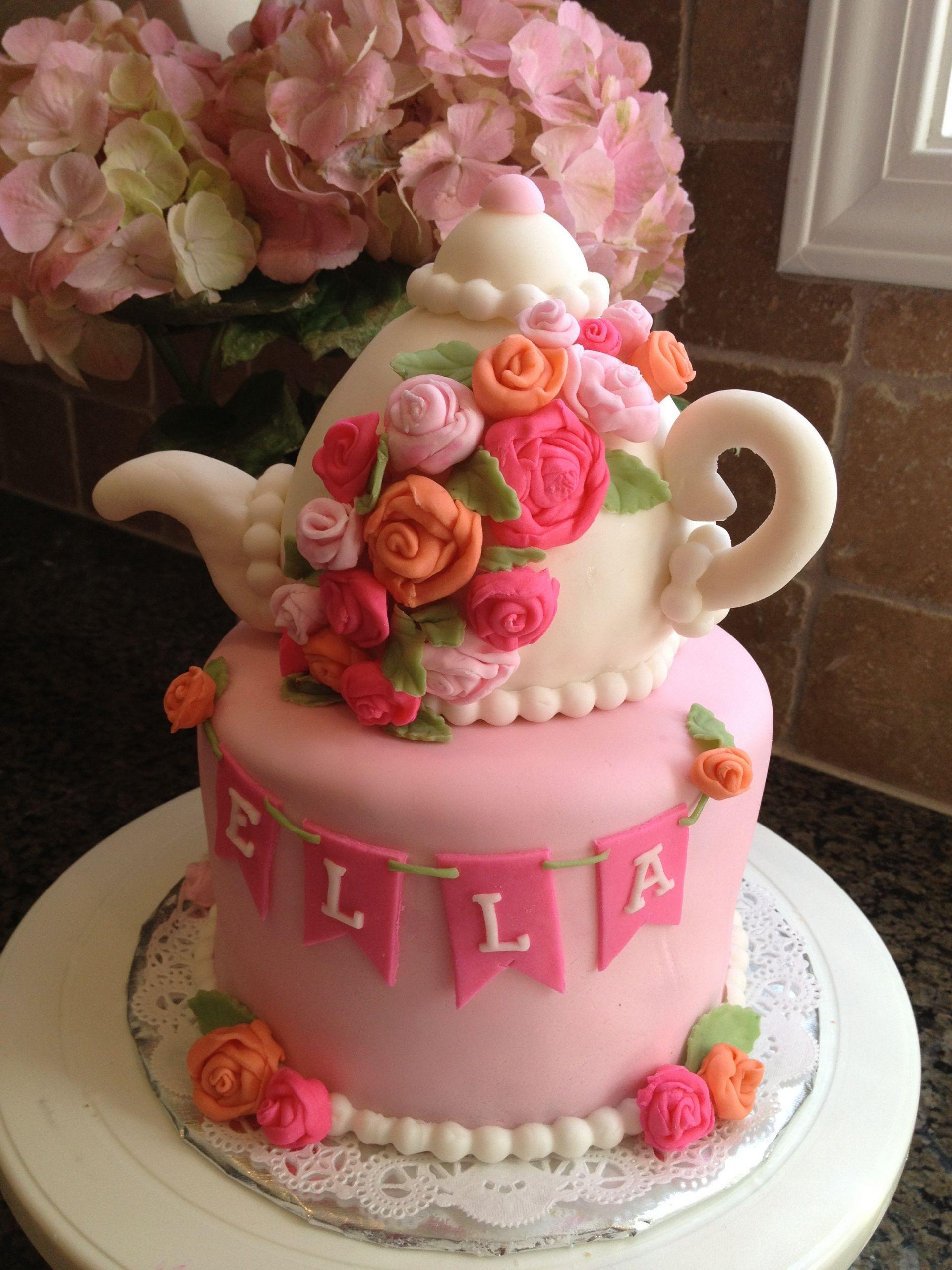 Tea Party Birthday Cake Ideas  Tea Party Tea Pot Cake