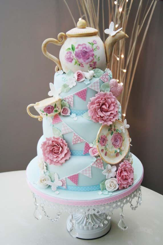 Tea Party Birthday Cake Ideas  1428 best Birthday Cakes images on Pinterest