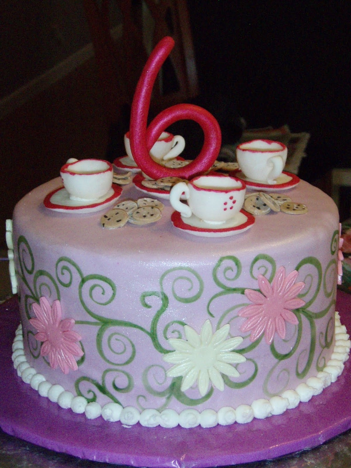 Tea Party Birthday Cake Ideas  Cup Cake Decoration Ideas
