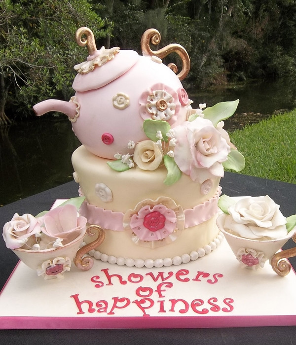 Tea Party Birthday Cake Ideas  Top Mother s Day Tea Party Cakes CakeCentral