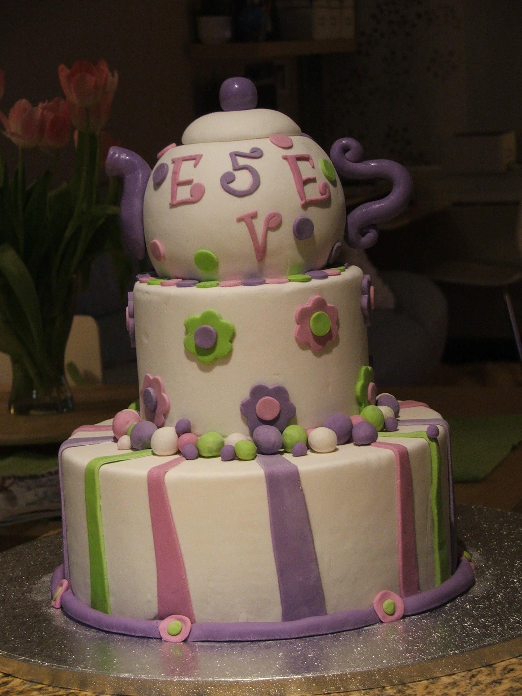 Tea Party Birthday Cake Ideas  Idea Concept Cakes