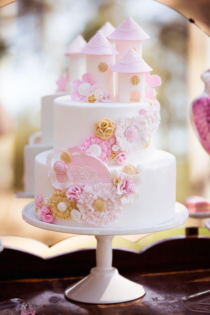 Tea Party Birthday Cake Ideas  Kara s Party Ideas Vintage Princess Themed Birthday Tea