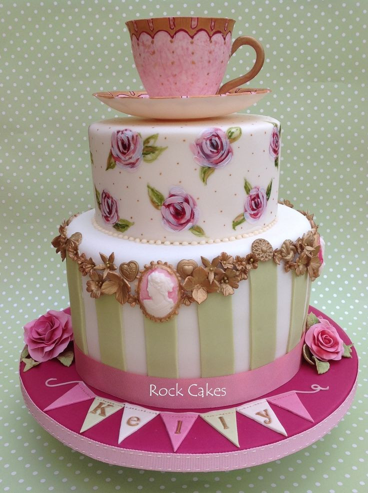 Tea Party Birthday Cake Ideas  390 best images about Cameo Cakes on Pinterest