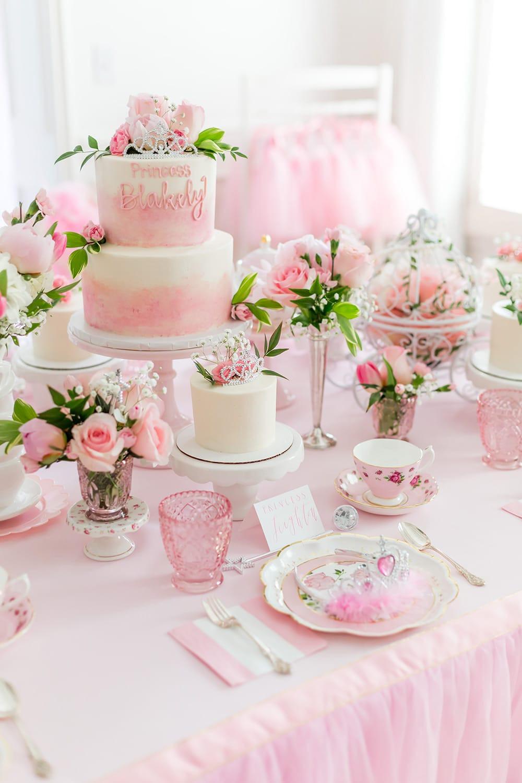 Tea Party Birthday Cake Ideas  Blakely s Princess Tea Party 5th Birthday