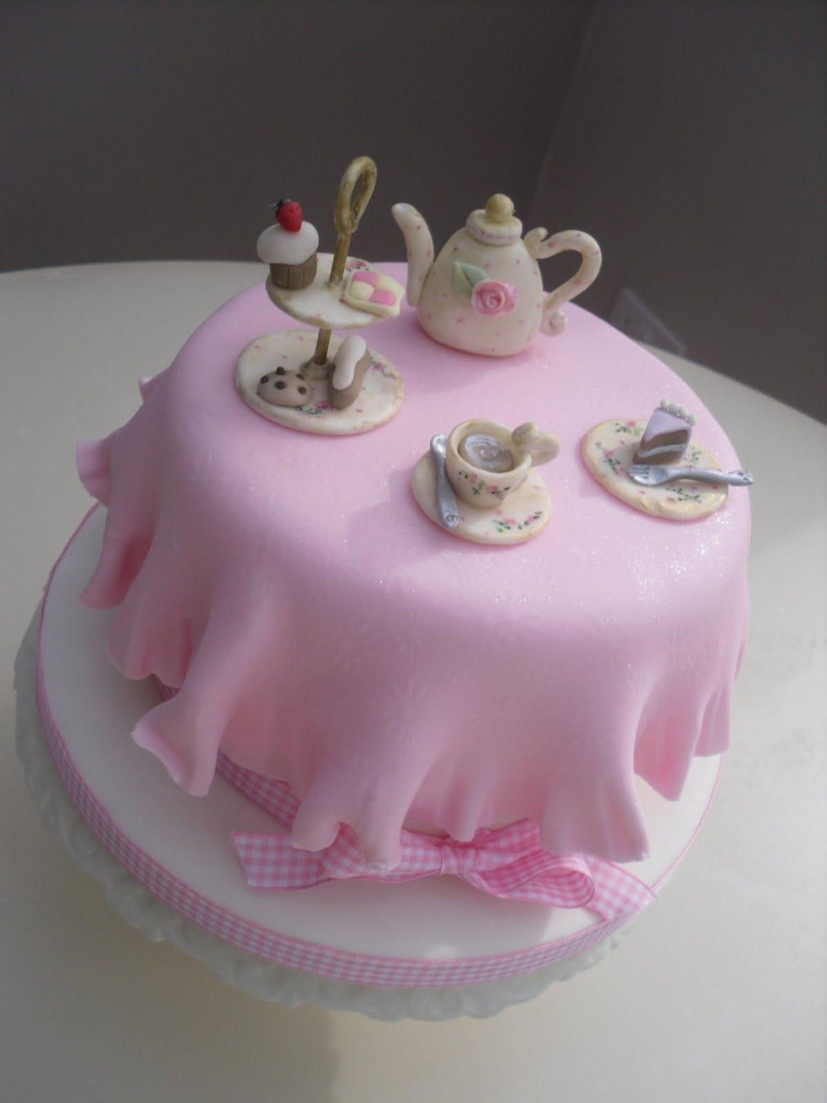 Tea Party Birthday Cake Ideas  Katies Cupcakes Tea Party Cake