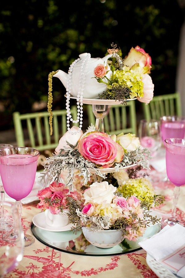 Tea Party Themes Ideas  Outdoor Vintage Lace Tea Party Bridal Shower Bridal