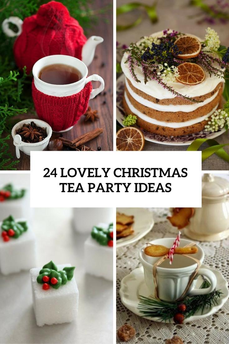 Tea Party Themes Ideas  24 Lovely Christmas Tea Party Ideas Shelterness