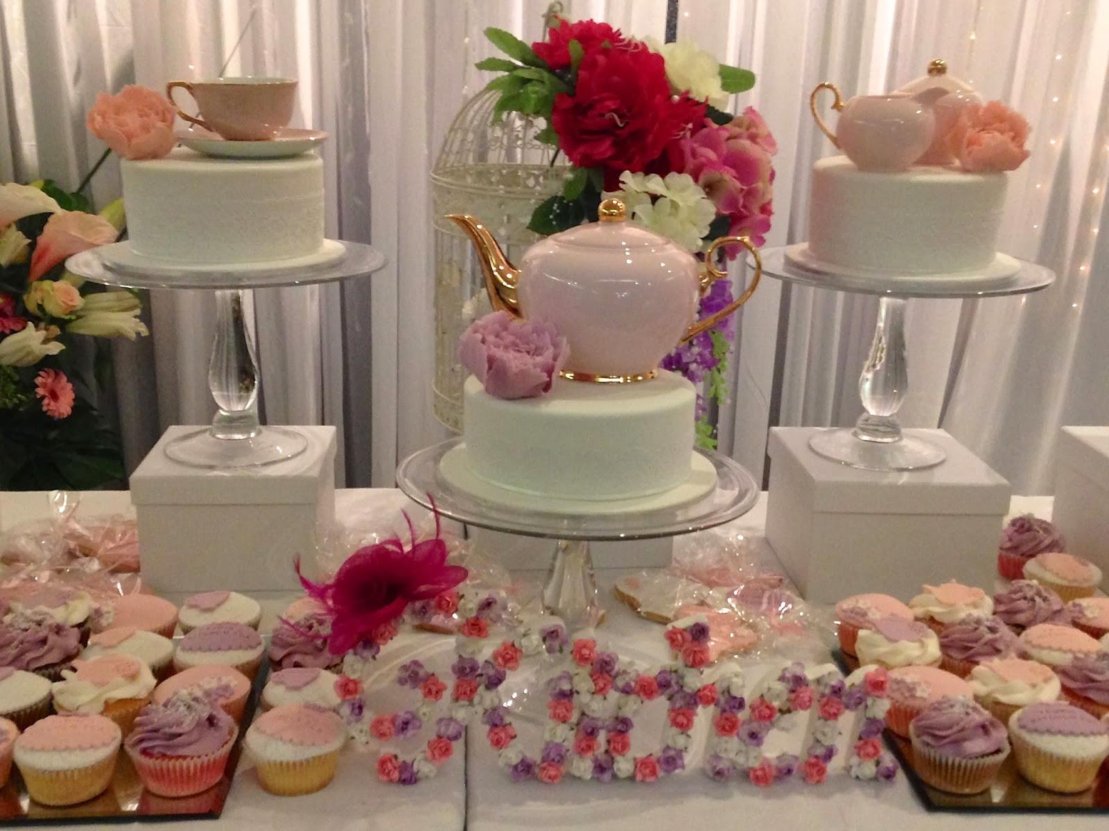 Tea Party Themes Ideas  Party Ideas Pretty in pink floral kitchen tea ideas