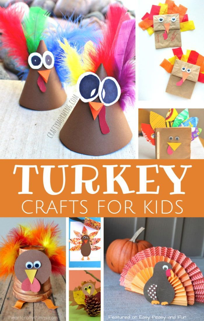 Thanksgiving Art And Craft Ideas For Toddlers  Turkey Crafts for Kids Wonderful Art and Craft Ideas for