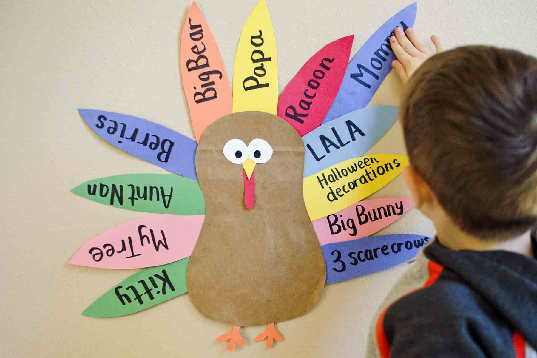 Thanksgiving Art And Craft Ideas For Toddlers  Teaching Toddlers to be Thankful Busy Toddler