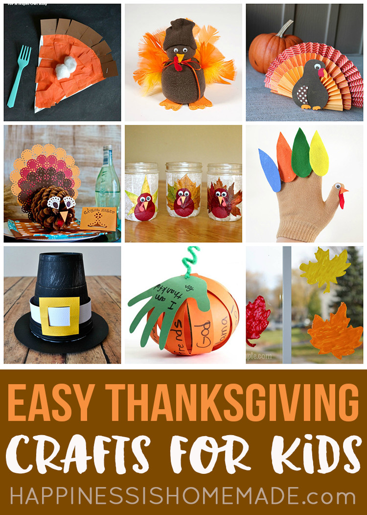 Thanksgiving Art And Craft Ideas For Toddlers  Easy Thanksgiving Crafts for Kids to Make Happiness is