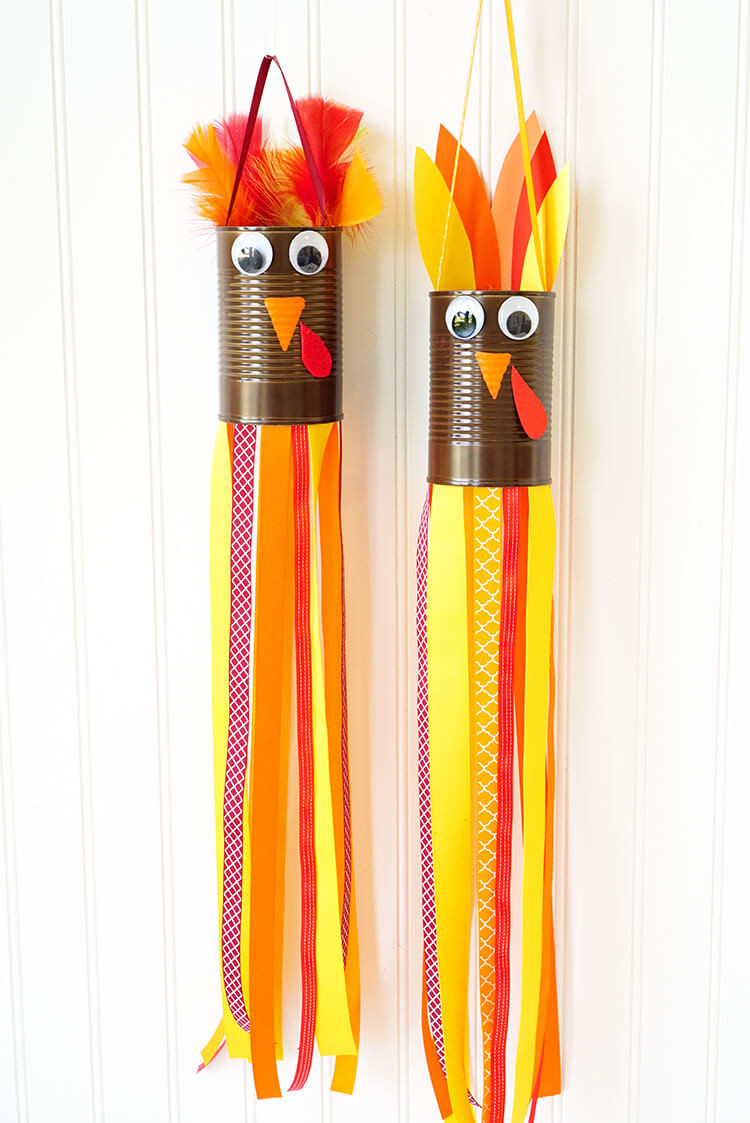 Thanksgiving Art And Craft Ideas For Toddlers  Thanksgiving Kids Craft Turkey Windsocks Happiness is