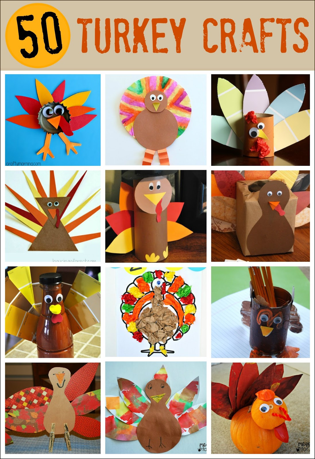 Thanksgiving Art And Craft Ideas For Toddlers  Thanksgiving Crafts for Kids Pipe Cleaner Turkey Mess