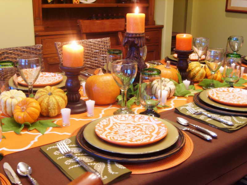 Thanksgiving Dinner Table Decorations  How to Dress Up Your Thanksgiving Table I Don t Have