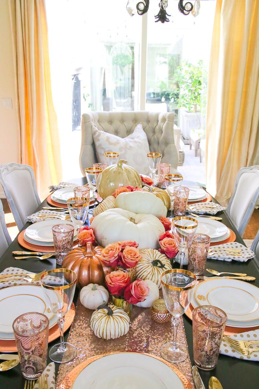 Thanksgiving Dinner Table Decorations  10 Gorgeous Thanksgiving Table Scape Ideas Randi Garrett