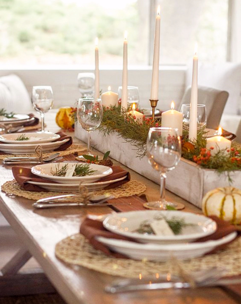 Thanksgiving Dinner Table Decorations  Thanksgiving Table Settings • DIY Ideas for Your