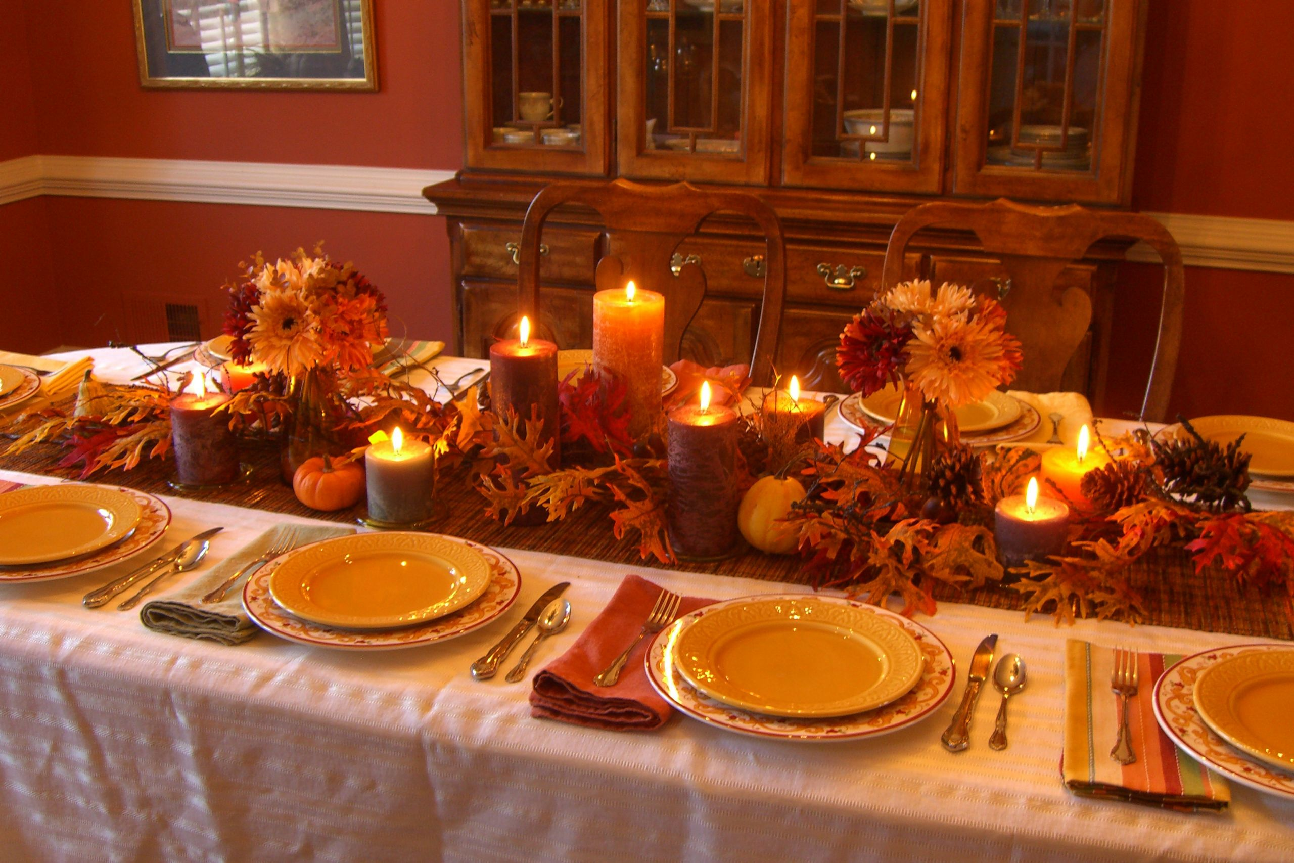 Thanksgiving Dinner Table Decorations  Decorating My Thanksgiving Table