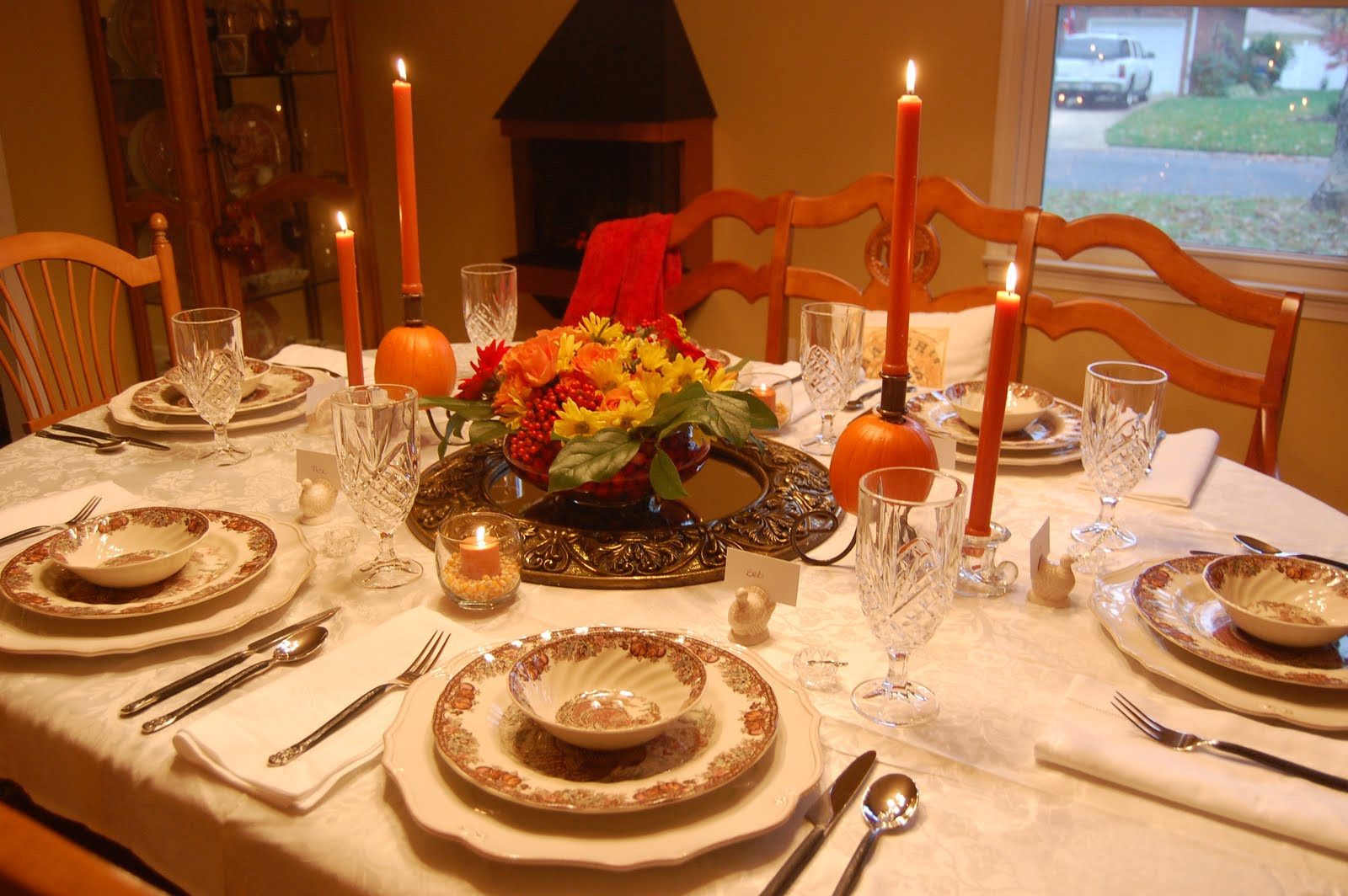 Thanksgiving Dinner Table Decorations  Ma Maison Thanksgiving Table