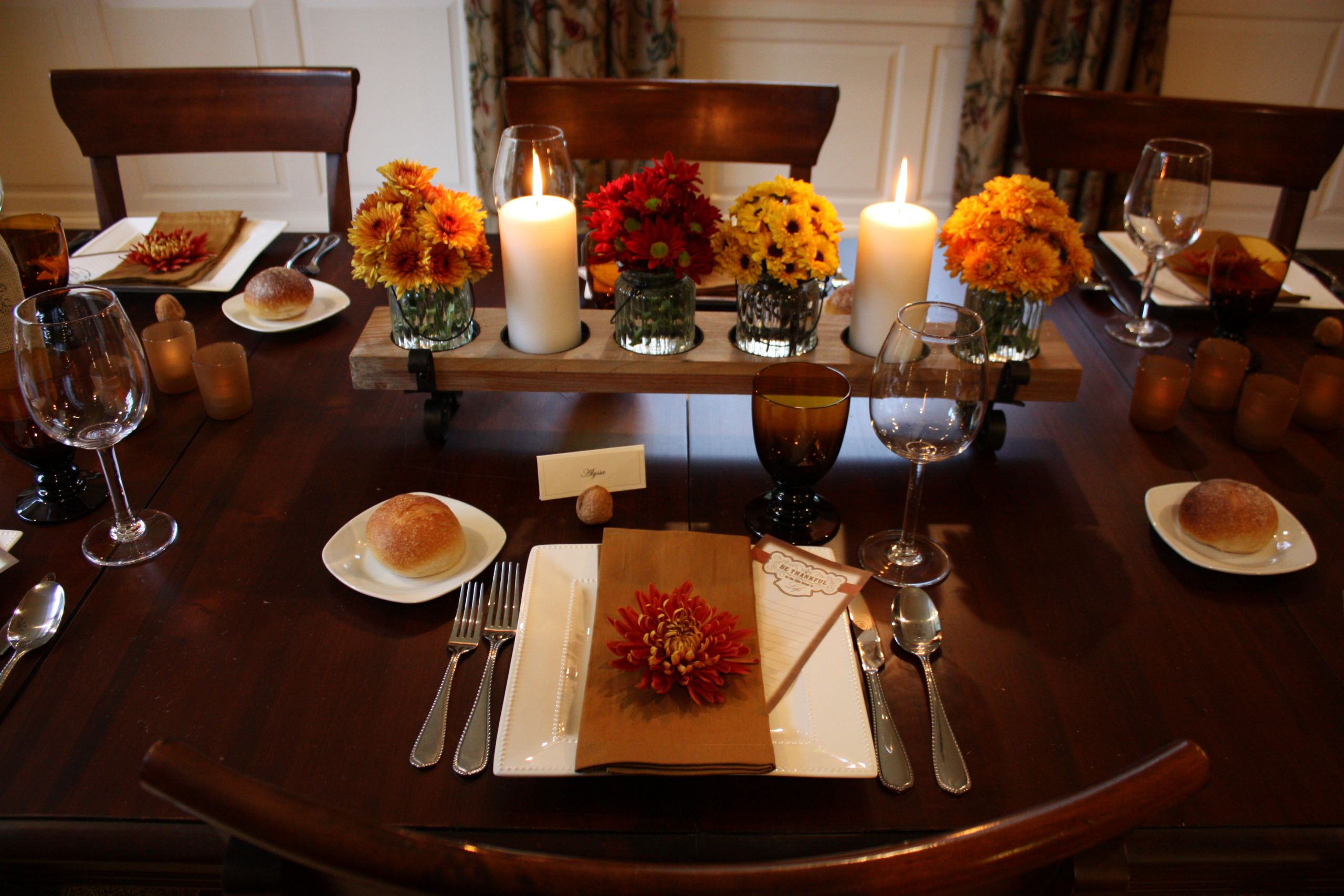 Thanksgiving Dinner Table Decorations  Thanksgiving Table