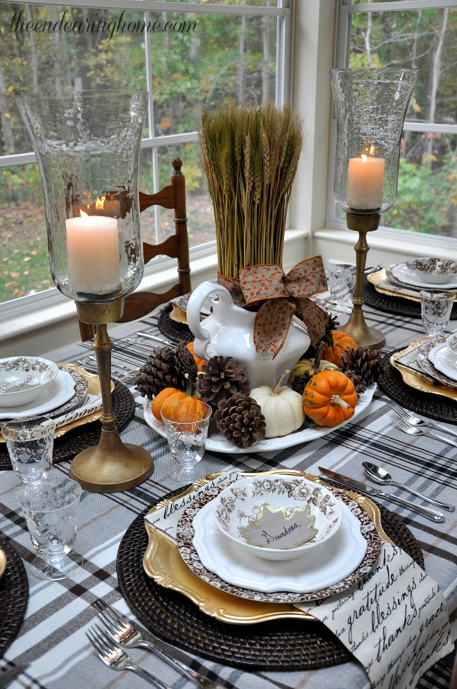 Thanksgiving Dinner Table Decorations  55 Beautiful Thanksgiving Table Decor Ideas DigsDigs
