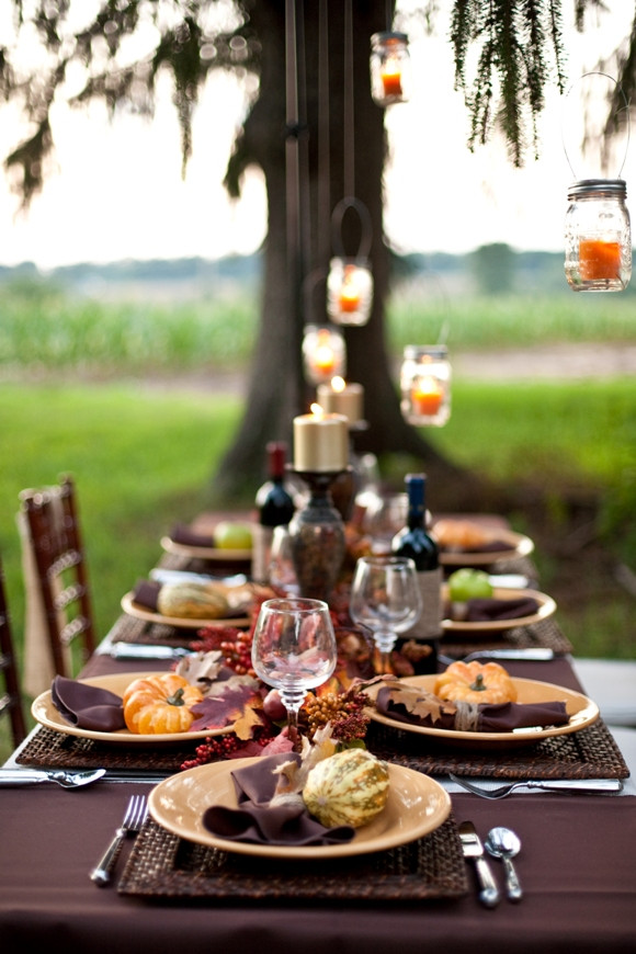 Thanksgiving Dinner Table Decorations  Thanksgiving DIY Tablescape a Dinner Party Ideas Party