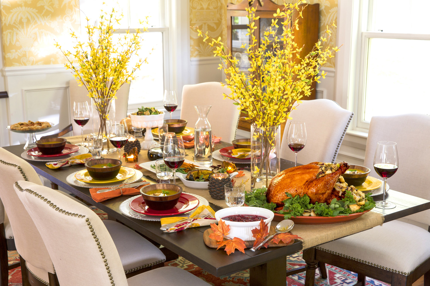 Thanksgiving Dinner Table Decorations  Thanksgiving Table Decor Easy as 1 2 3