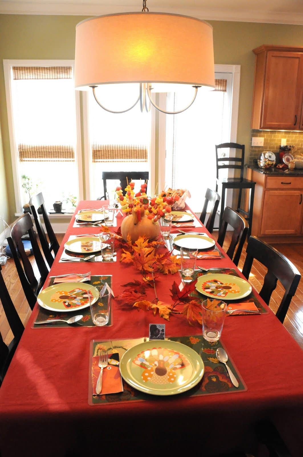 Thanksgiving Dinner Table Decorations  Thanksgiving Decor The Polkadot Chair