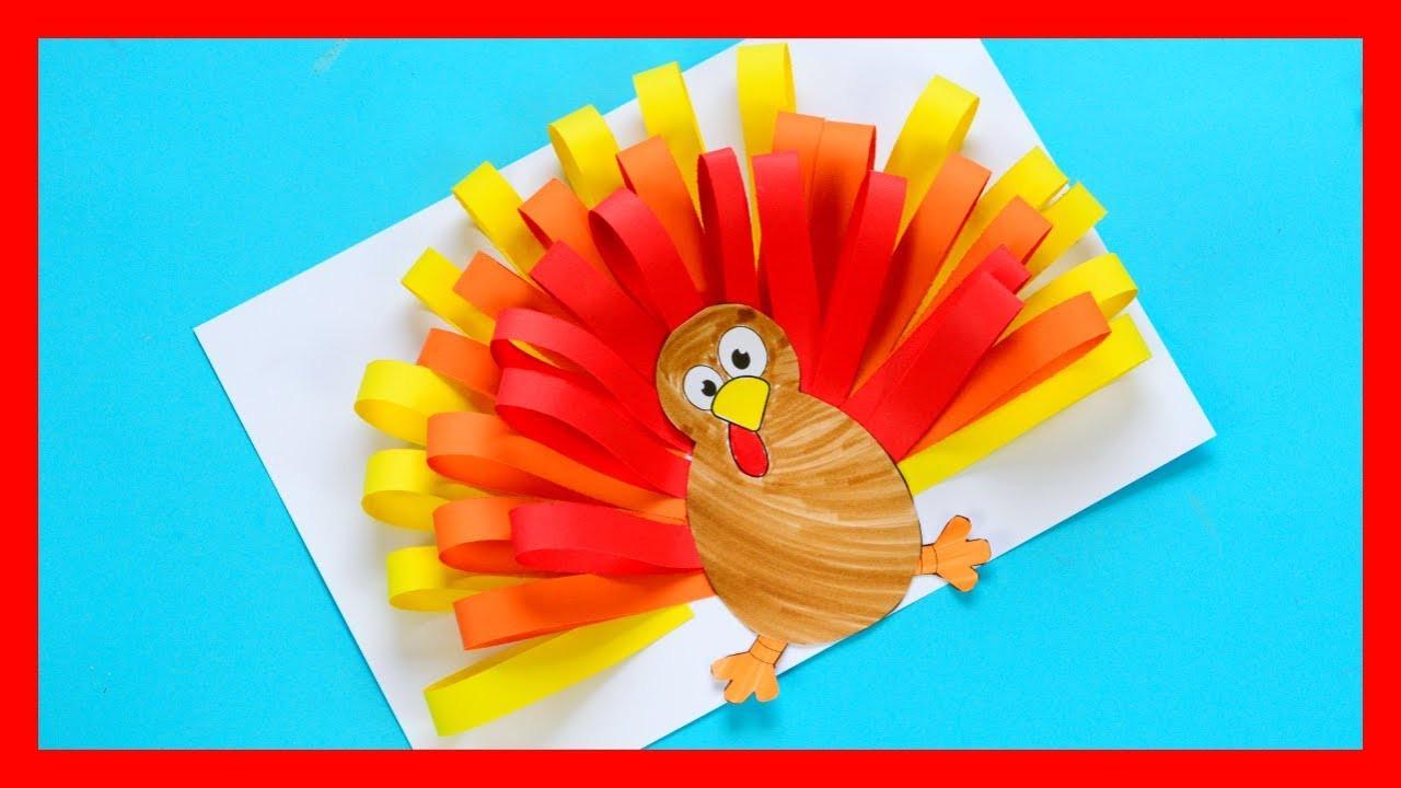 Thanksgiving Turkey Craft  Paper Turkey Craft fun Thanksgiving craft for kids