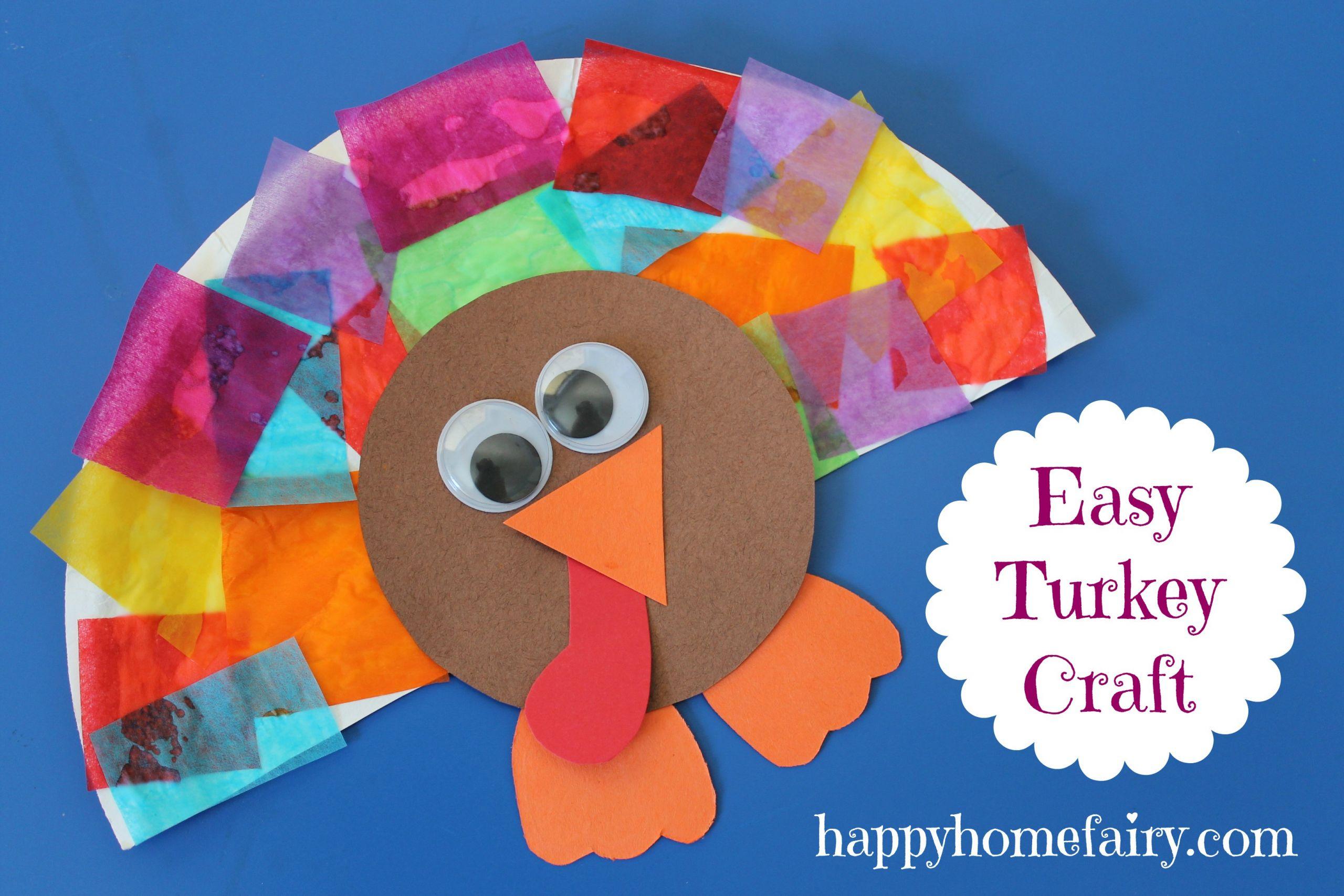 Thanksgiving Turkey Craft  Easy Turkey Craft Happy Home Fairy