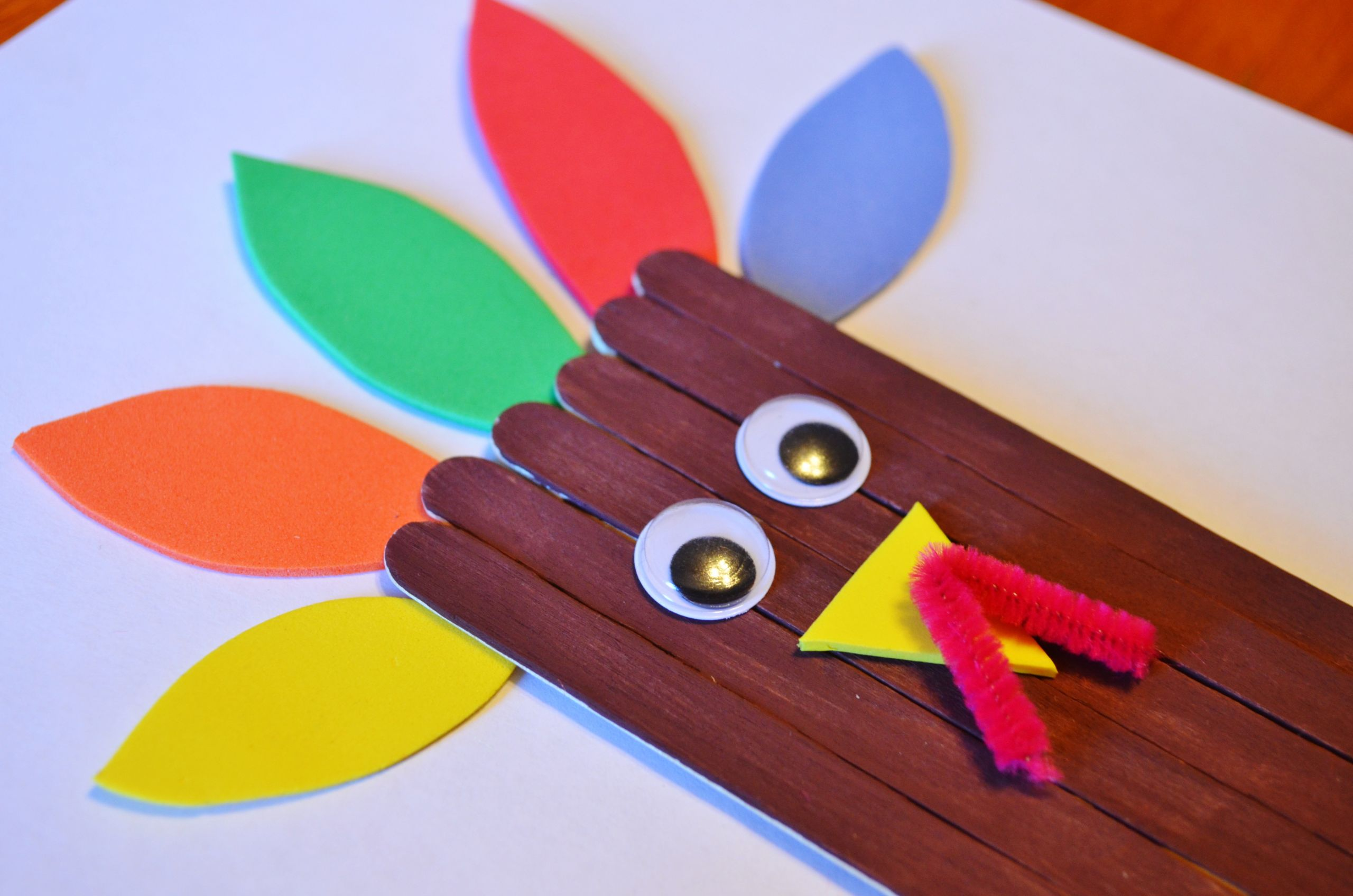 Thanksgiving Turkey Craft  Thanksgiving Turkey Craft Sticks Craft for Kids