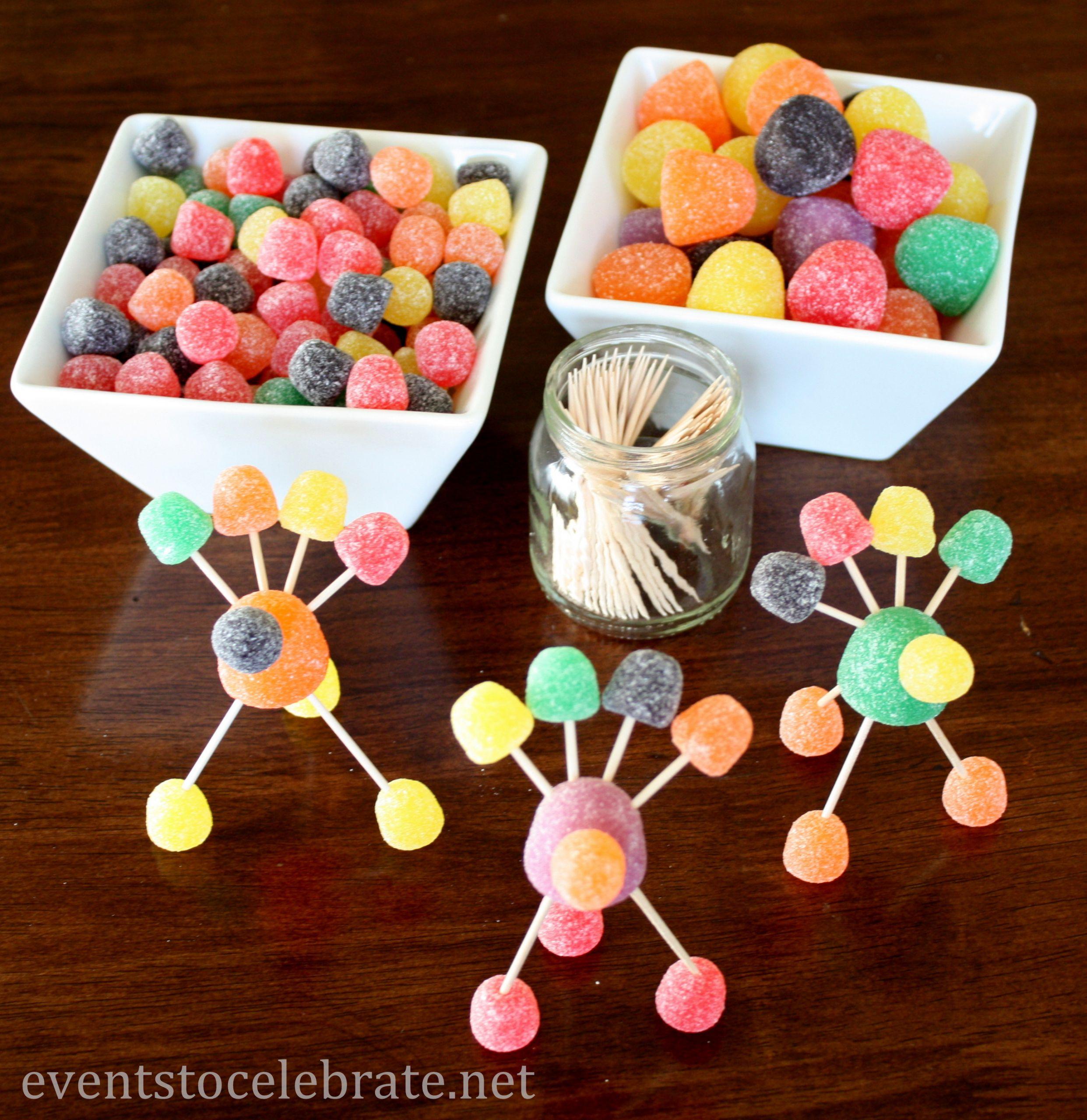 Thanksgiving Turkey Craft  Thanksgiving Crafts for Kids Gumdrop Turkeys events to