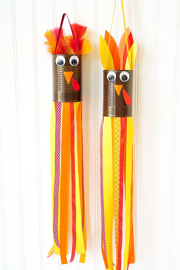 Thanksgiving Turkey Craft  Thanksgiving Kids Craft Turkey Windsocks Happiness is